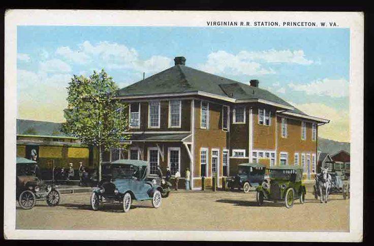 Virginian RR Depot - Princeton West Virginia 1913