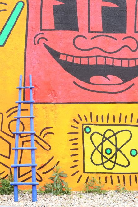 USA, New York, Manhattan, Lower East Side, The Bowery Wall, mural by Keith Haring ©Ludovic Maisant