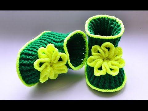 Пинетки крючком. Мастер класс. Baby booties, crochet - YouTube