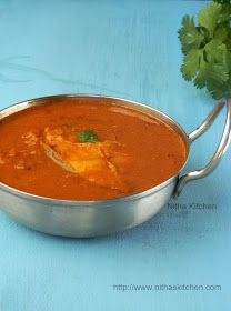 Nitha Kitchen: Chettinadu Fish Kuzhambu | Varuthu Araicha Meen Kulambu