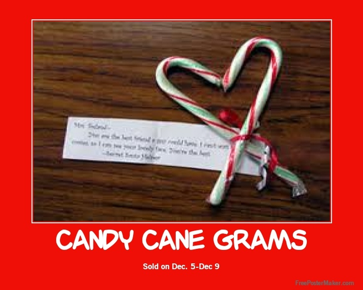 Candy Cane Grams Sale in Dec?
