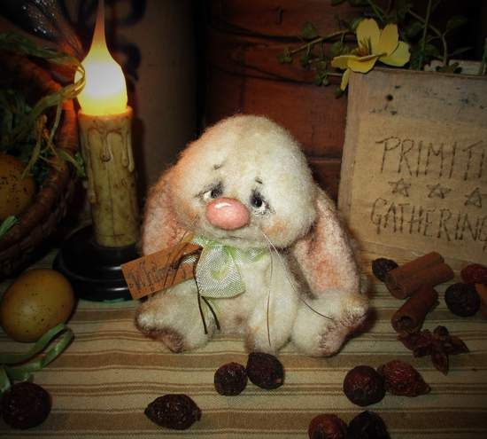 Whimsey Bunny Rabbit By Patti Sikes of Patti's Ratties - Bear Pile