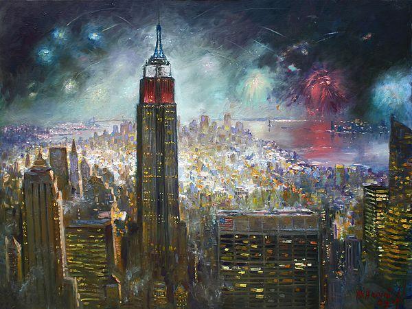 Нью-Йорк. Эмпайр-Стейт-Билдинг картина Илли Haruni