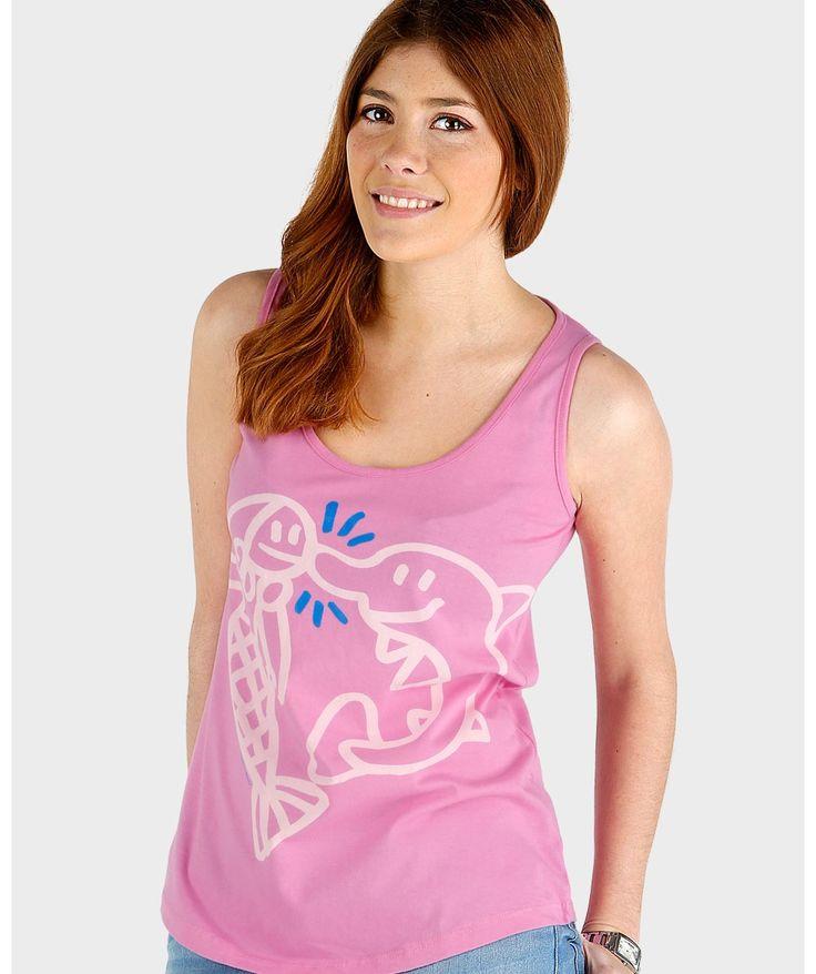 Camisetas originales mujer - Sirena delfín