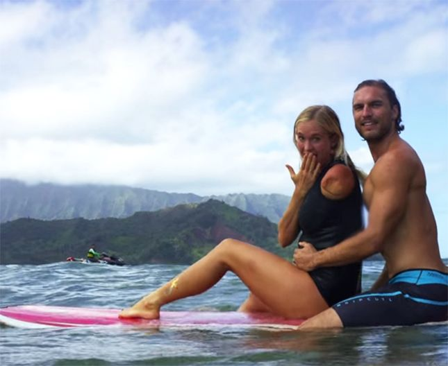 """Baby on board"" Surfer Bethany Hamilton's Pregnancy Pics Will Inspire You via Brit + Co."