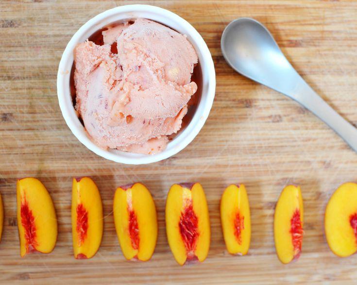 Peach Sherbet - 25+ Three Ingredient Recipes - NoBiggie.net