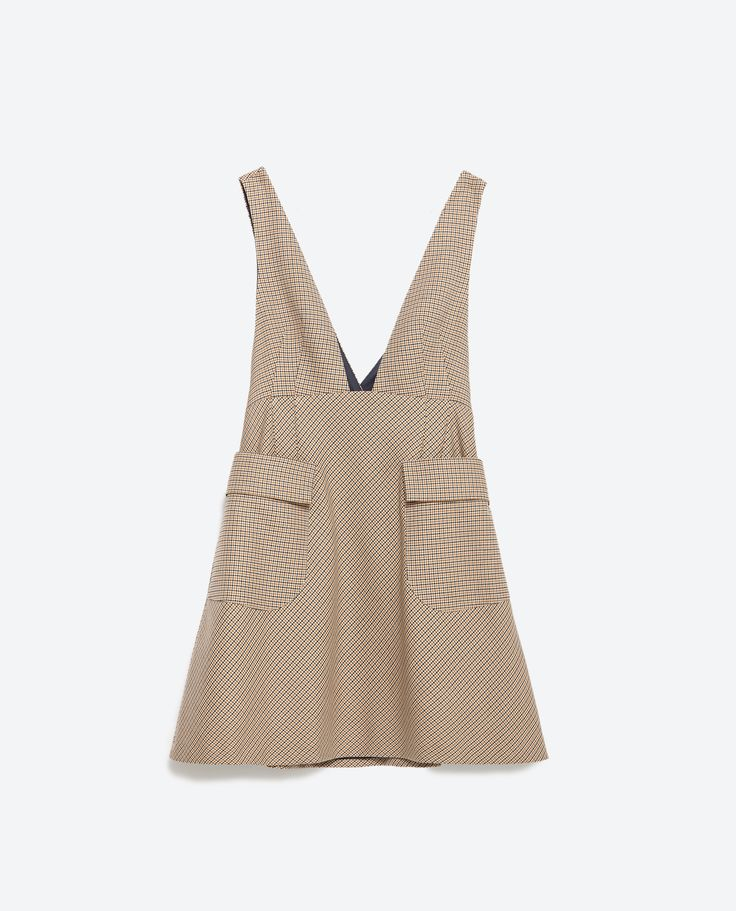 CHECK PINAFORE DRESS - View all - Dresses - WOMAN   ZARA United States