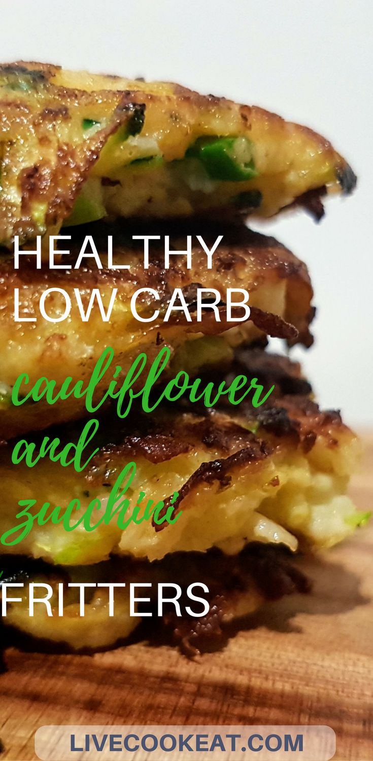 What are you having for dinner tonight? How about these healthy low carb fritters