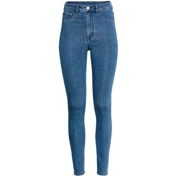 Super Skinny High Jeggings $19.99 ($20) ❤ liked on Polyvore featuring pants, leggings, high waist denim jeggings, high waisted jeggings, denim jeggings, high rise leggings and jean leggings