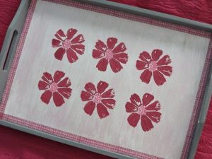 Change a relatively simple tray into a quite unusual homemade gift through the application of painting and stamping techniques. #FaveCrafter