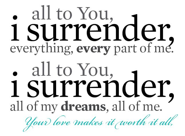 Kim Walker, I Surrender...