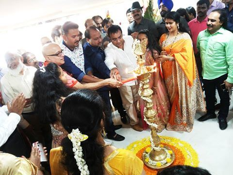 Lighting a Lamp during inauguration at Our Lalithaa Jewellery new showroom Purasawalkam, chennai.‪ kiran kumar‬ ‪lalithaajewellery‬