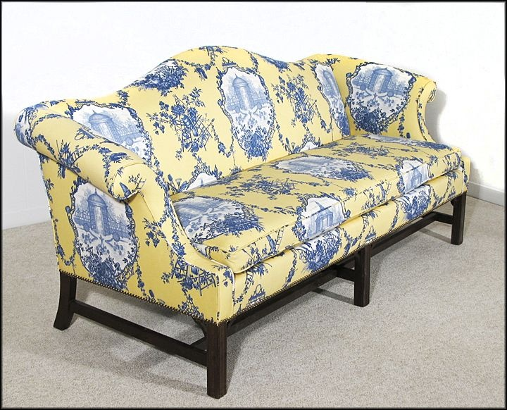 Chippendale Style Camelback Sofa   New Upholstery   Down Wrap Cushion    Couch   Setee From Got Vintage Shop Oh. 65 best Couches images on Pinterest   Diapers  Sofas and Upholstery