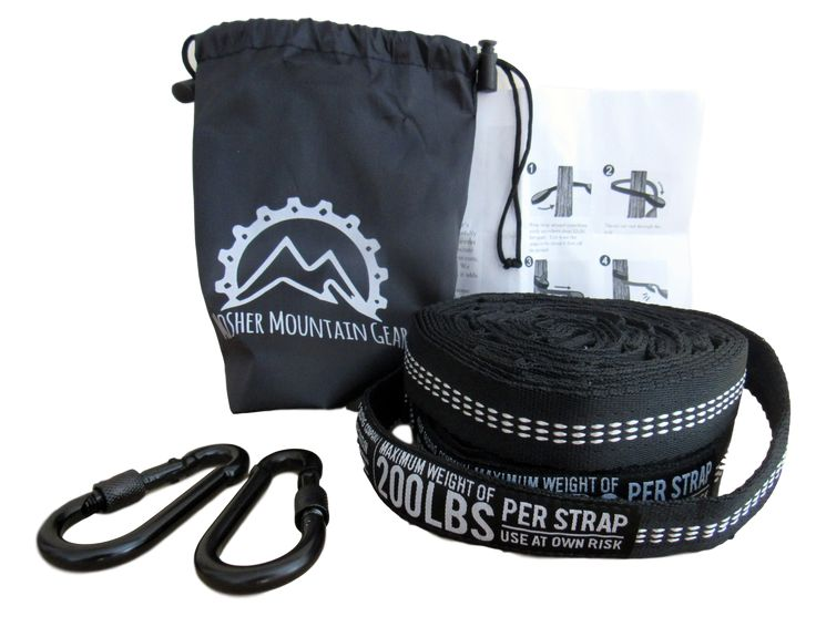 Mosher Mountain Gear Hammock Straps - Hang a hammock with Ease