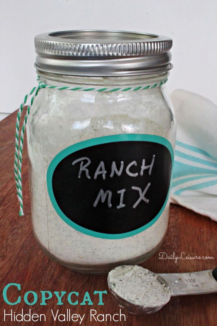Copycat Hidden Valley Ranch Dry Mix - Daily Leisure