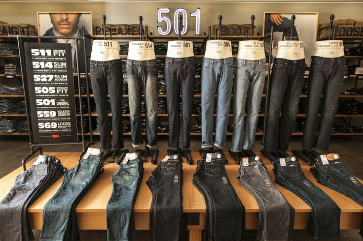 The new Levi's Shop at jcpenney features the retailer's largest-ever assortment of Levi's denim in 11 fits and 88 washes in an exclusive denim bar experience. Photo Credit: Shannon Faulk/Getty Images