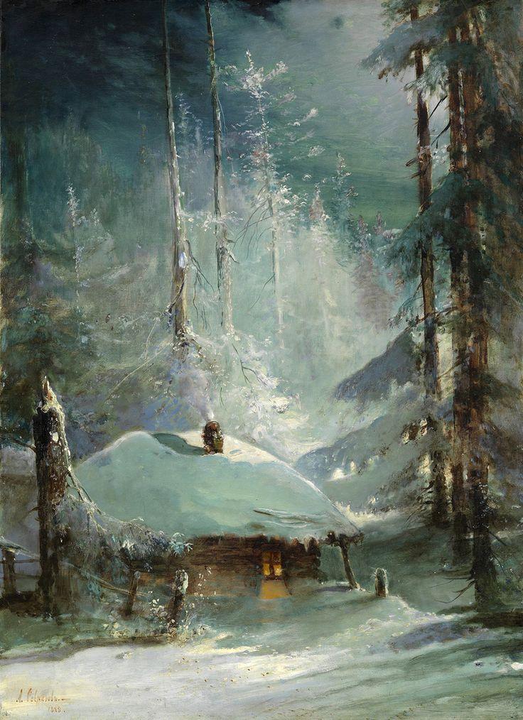 Алексей Саврасов. Хижина в зимнем лесу,1888