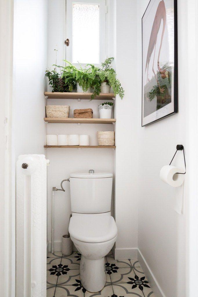 Epingle Par Mlle Ludipon Sur A House As I Like Maisondemesreves En 2020 Amenagement Toilettes Idee Deco Toilettes Etagere Toilette