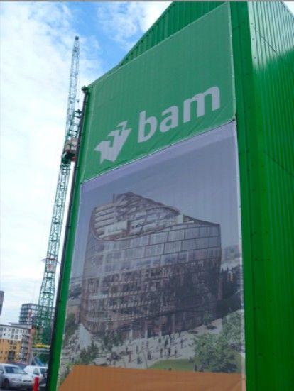 Large format construction signage - design & print by 1Define