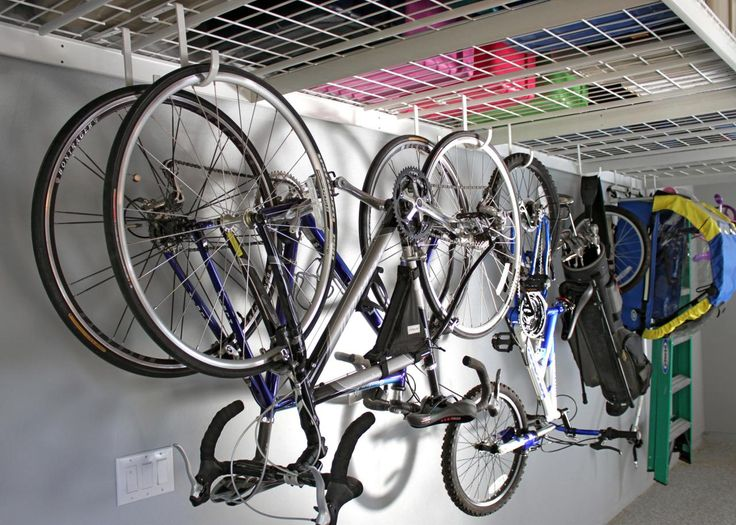 Garage Storage: Hooks and hangers - bikes