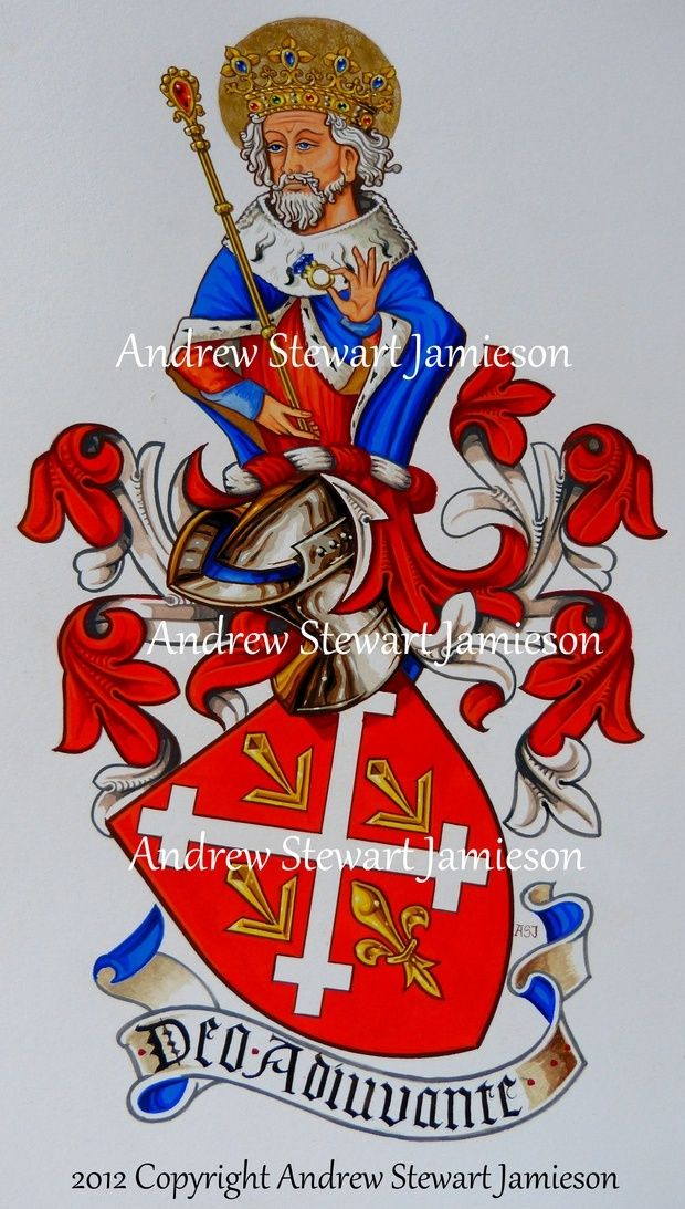 The Armorial Bearings of David Juliano this is original hand drawn and painted artwork created by British Artist and Designer Andrew Stewart Jamieson and is fully copyrighted.  No portion of this can be used to create another piece of artwork.  Do not copy, trace or digitally manipulate.  (heraldry, heraldic art, heraldic artists, coats of arms, fine art, The Jamieson Family)