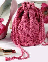 Cute Little Crochet Bag: free #crochet pattern