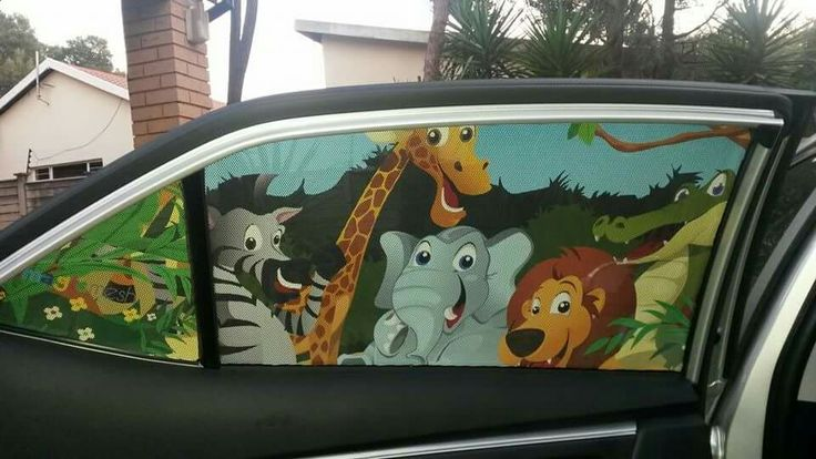 Magic Mesh car shade. Various patterns available. Shop online www.mothersandthings.co.za