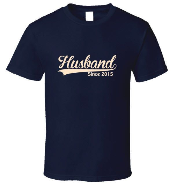 """Thanks for the kind words! ★★★★★ """"My husband adores this shirt -- thank you for the quick shipping and great product!"""" stephoboe1 http://etsy.me/2E99mq4 #etsy #shirt #wedding #fathersday #husband #newhusbandgift #husbandsincetee #groom #giftforhim"""