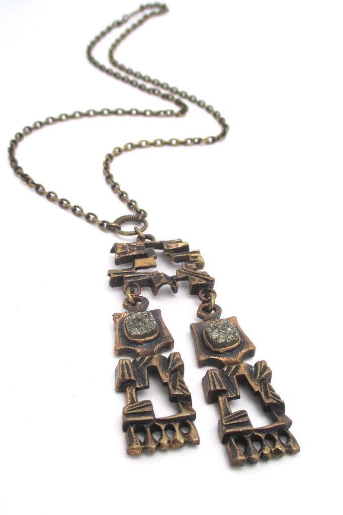 Pentti Sarpaneva for Turun Hopea Finland vintage silver modernist pendant necklace