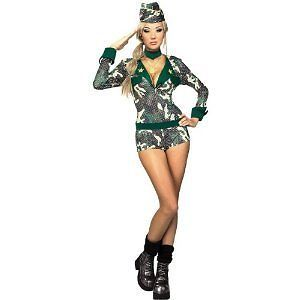 Army Girl Fancy Dress Choker Hat, Outfit, M 10-12, Military, Rubie s Multi