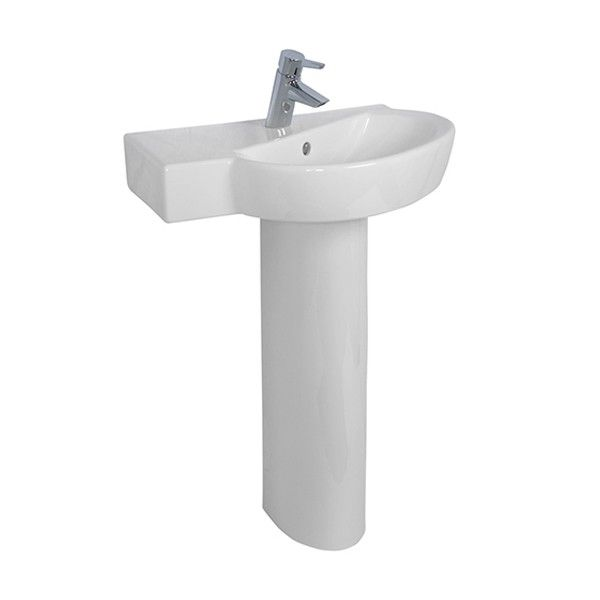 Vitra Sunrise 1 Tap Hole Offset Corner Basin 600mm Bella