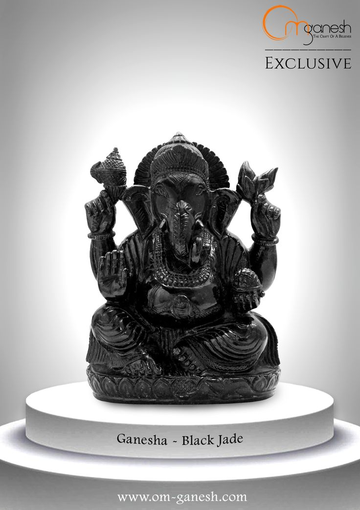 He takes many forms, and enriches many lives. Take his blessings in the form of the mystical Black Jade idol by Om Ganesh Crafts.#Takes #Forms #Enrich #Lives #Blessing #Mystical #BlackJade #Ganesha