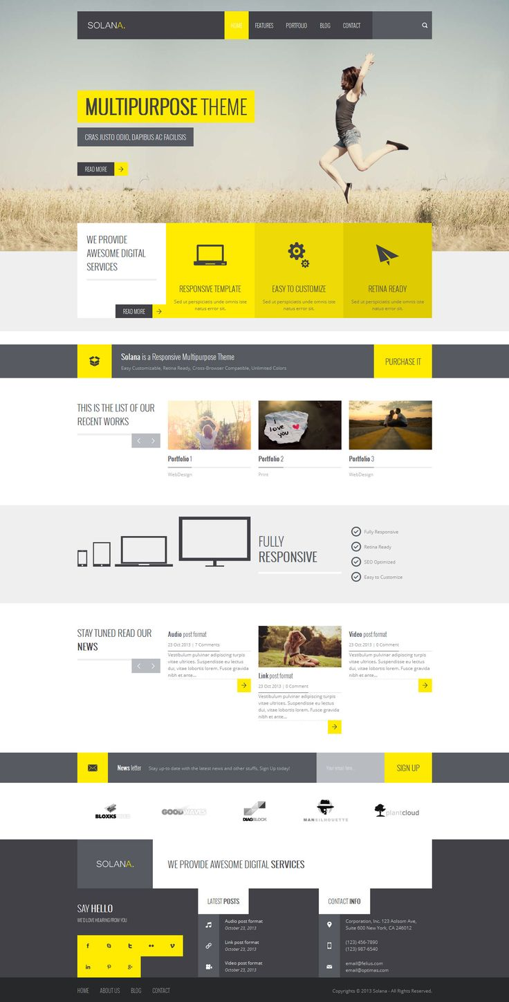 Yellow contrast. #design #inspiration  We love this simple, elegant and clean #webdesign