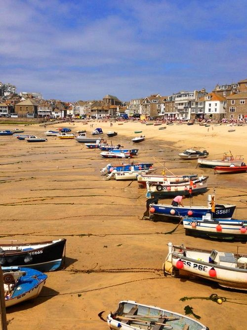 """St Ives, Cornwall, low tide. """"As I was going to Saint Ives I met a man with seven wives..."""" Childhood poetry."""