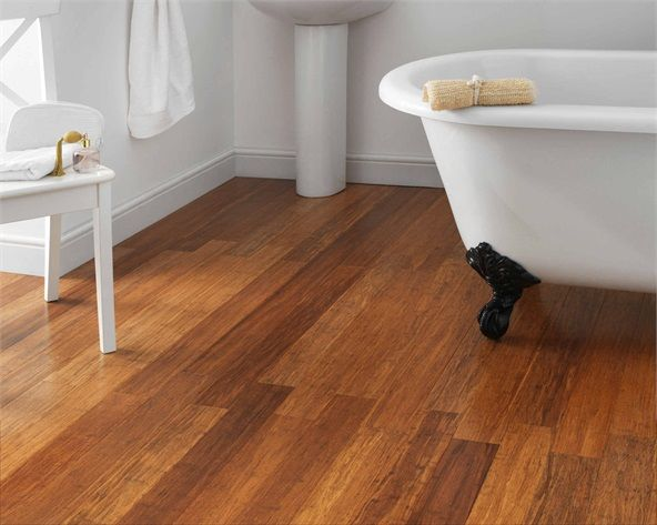 Brilliant Bathroom Bamboo Flooring In The Throughout Inspiration