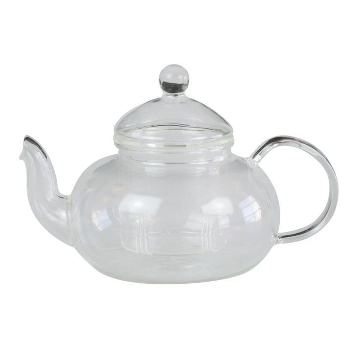 tea infusing glass teapot 600ml