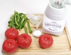 Now I know what to do with all these garden fresh tomatoes, before they go bad... Make and Freeze Tomato Sauce from RecipeTips.com
