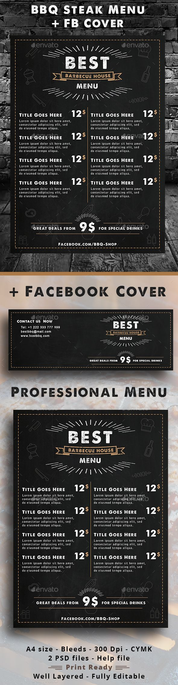 50 best Food Menu Cards For A Restaurant images on Pinterest