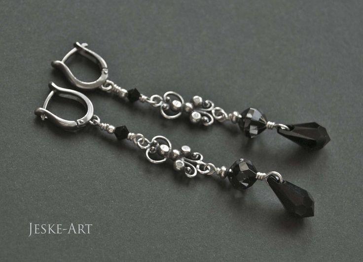 Black Lace - srebro925 i kryształy w Jeske-Art na DaWanda.com