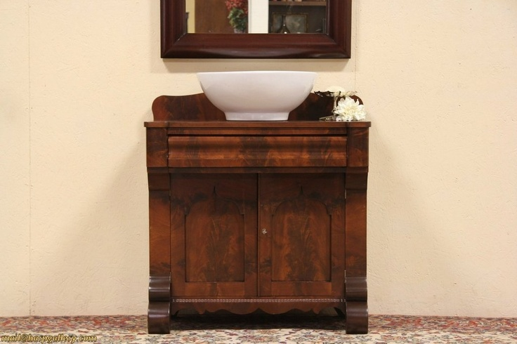 Turn any antique commode or dry sink into a bathroom sink - Reasonably priced bathroom vanities ...