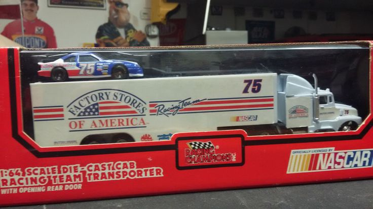 1/64 RACE TRANSPORTER TRUCK & CAR NASCAR STORES OF AMERICA 1993 STORAGE LEGEND #RacingChampions