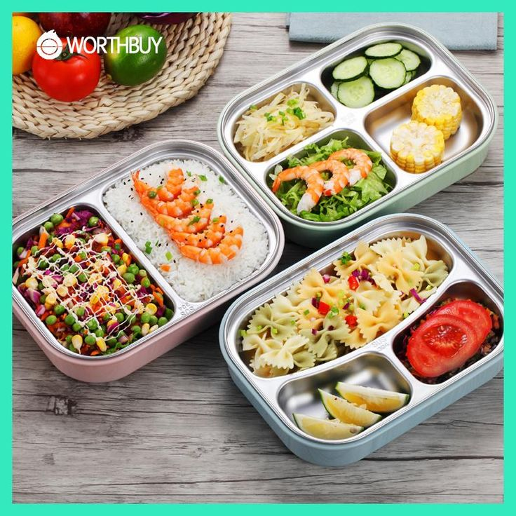 WORTHBUY 304 Stainless Steel Japanese Lunch Boxs With Compartments Microwave Bento Box For Kids School Picnic Food Container