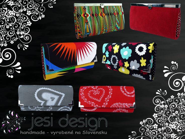 Oblečte svoje peniaze do štýlovej pestrofarebnej handmade peňaženky... 👍😉👍 Všetky nájdete na stránke nášho e-shopu: https://jesidesign.sk/handmade/handmade-penazenky 🙂🙂