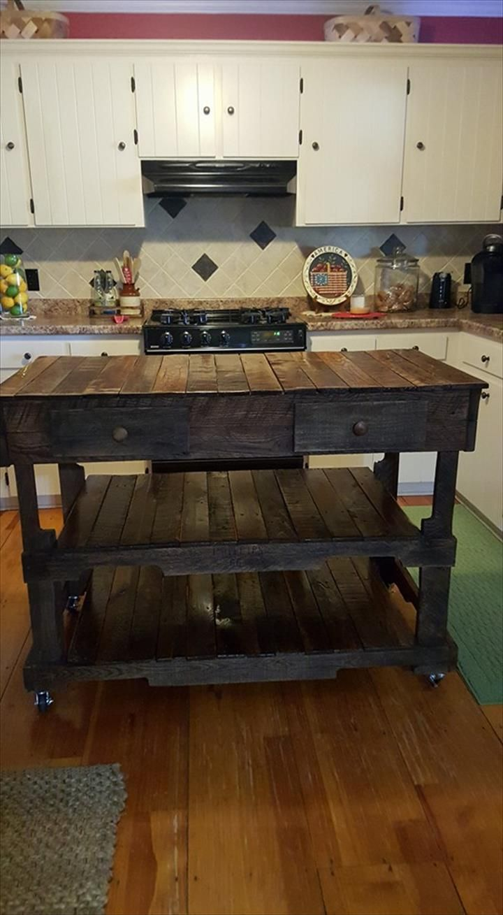 1000 ideas about pallet island on pinterest pallet for Pallet kitchen ideas