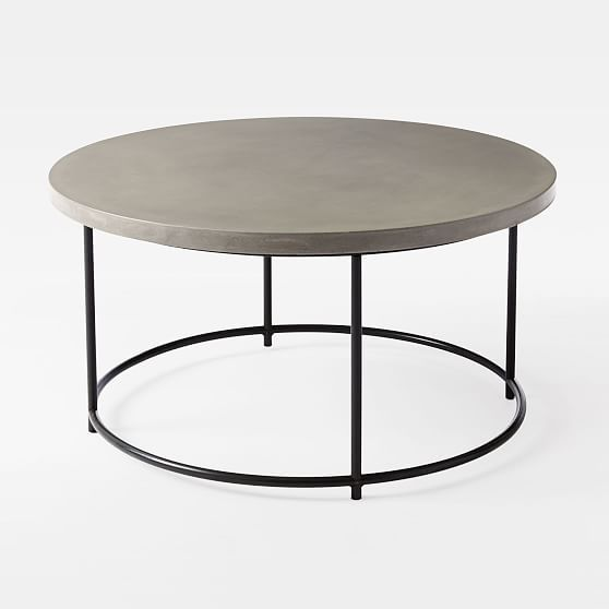 Mosaic Tiled Outdoor Coffee Table Solid Concrete Antique Bronze