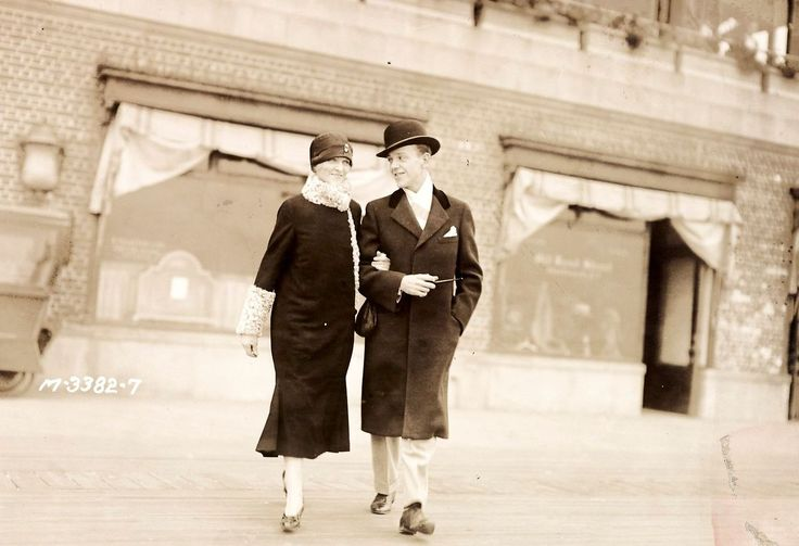Fred Astaire on a stroll with his mother in Atlantic City sometime in the 1920s, photo is from Noel Coward's personal collection.