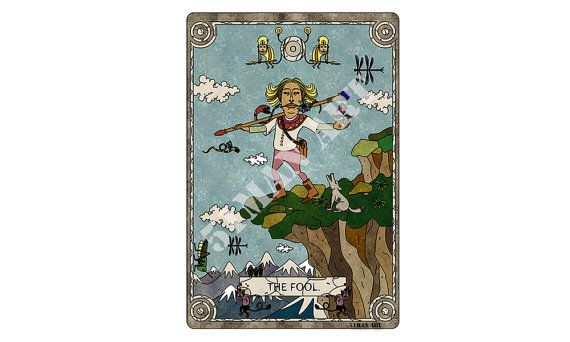 tarot card illustration the fool instant download by 51manART