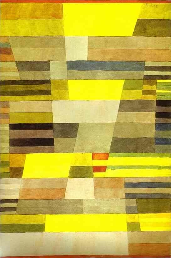 Monument, aquarelle de Paul Klee (1879-1940, Switzerland)