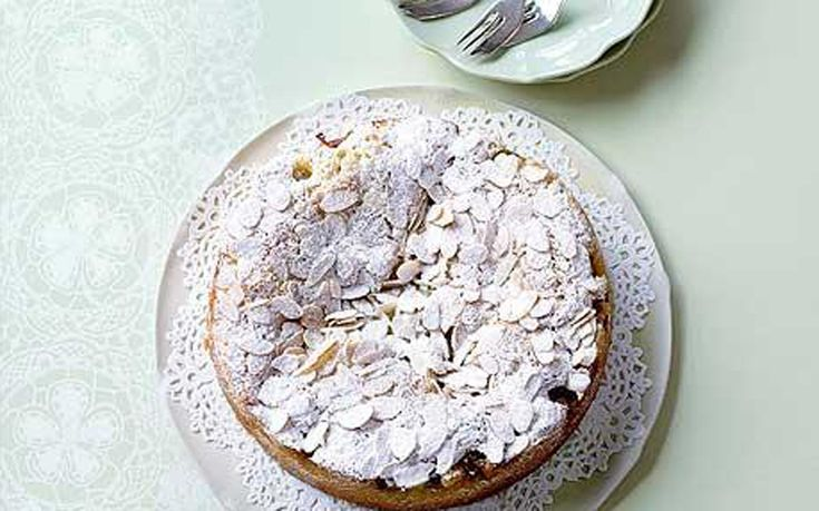 This simple almond cake is studded with juicy gooseberries to make a lovely   summer tea time treat