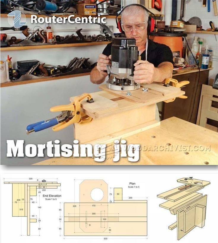 Router Mortising Jig Plans - Joinery Tips, Jigs and Techniques   WoodArchivist.com